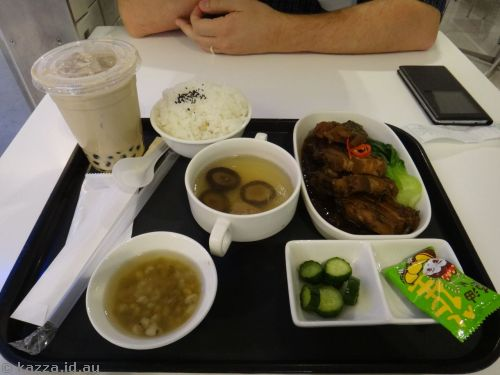 Our lunch at Taipei airport
