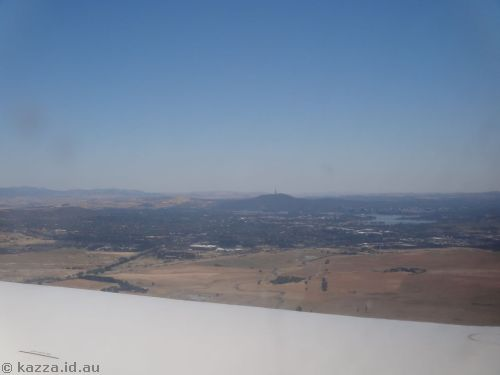 Approaching Canberra