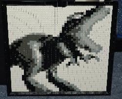 Lego Dinosaur Mosaic (excuse the jpg compression artefacts)