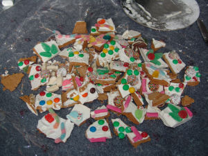 Gingerbread house - after