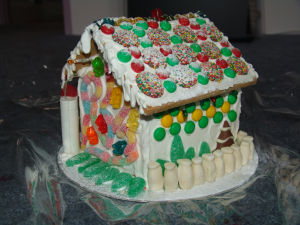 Gingerbread house - before