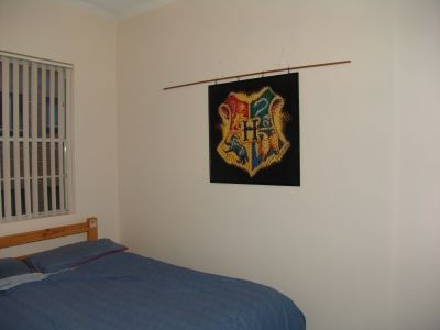 Hogwarts logo lego mosaic, finally mounted (it's a work in progress, still testing ideas of the best way to mount it)
