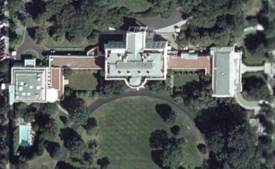White House from space