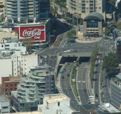 Coca Cola sign and William St