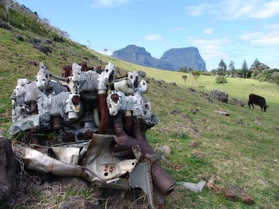 Catalina engine on Lord Howe Island