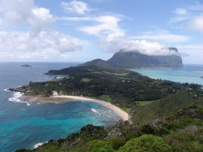 View of Lord Howe Island from Malabar