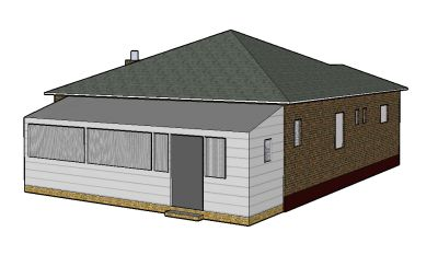 Nana's house in Google Sketchup