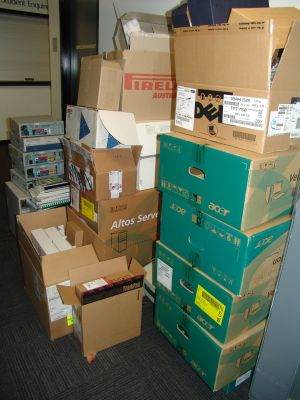 The massive pile of crap we chucked out at work the other week