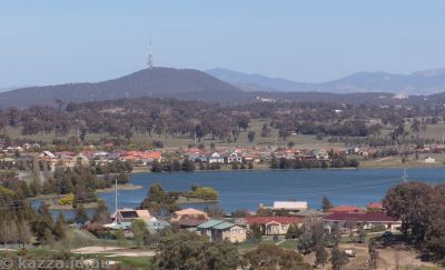Canberra over Gungahlin Pond