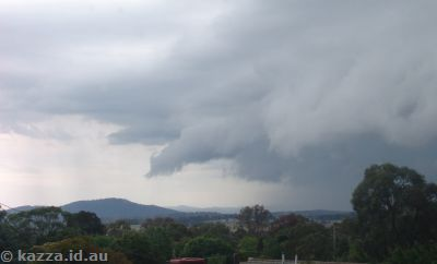 Storm over Mt Ainslie