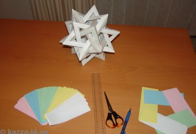 Five intersecting tetrahedrons - the beginning