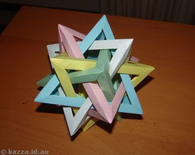 Five intersecting tetrahedrons