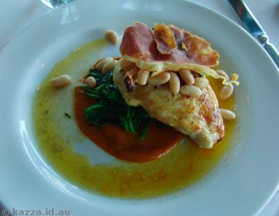 Pollo saltimbocca at Bella Vista