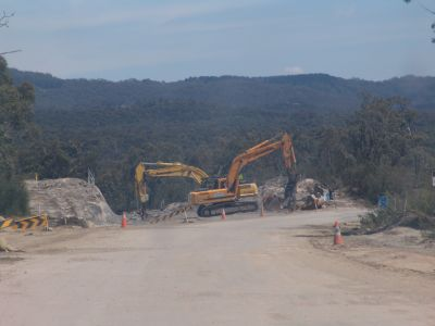 Construction of the new road