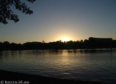 Sunset over Lake Ginninderra