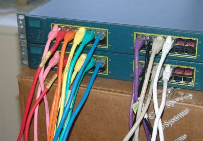 Colourful Cat 5 Cables