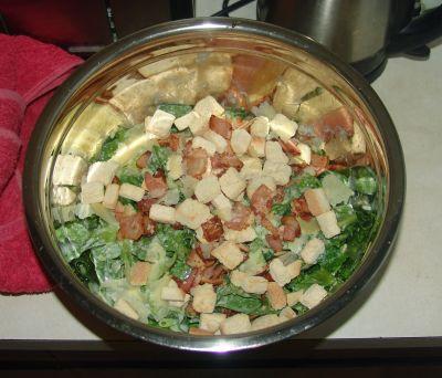 Kazza's caesar salad