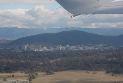Over Canberra