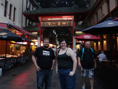 Stu and Kore in Chinatown