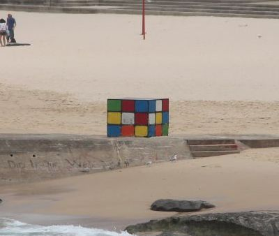 Rubiks Cube on Maroubra beach