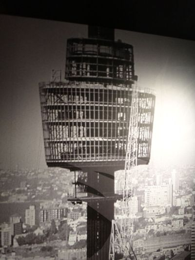Sydney Tower under construction