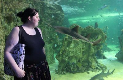 Kore about to be stabbed by a sawfish