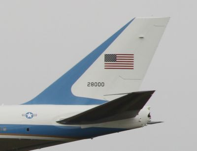 Air Force One in Canberra