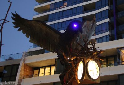 Civic bird sculpture