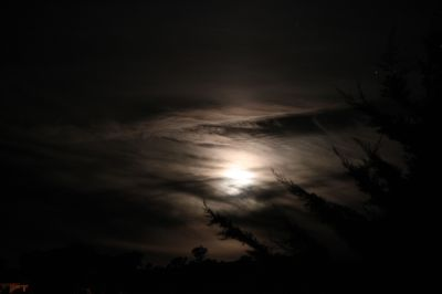 Cloudy moonrise
