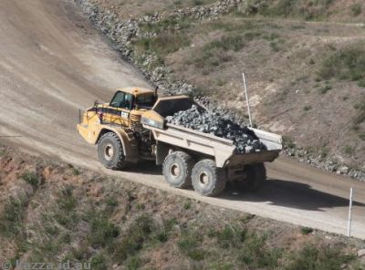 Dump truck full of rocks