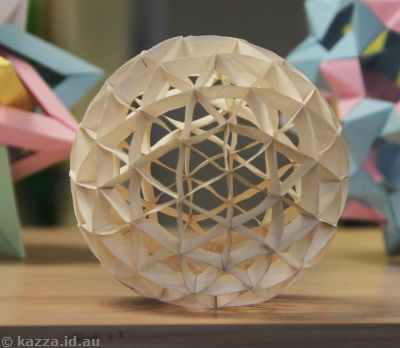 Geodesic paper sphere