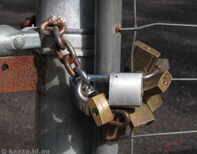 Chains (locks) on the gate