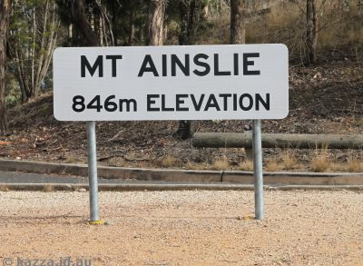 Mount Ainslie sign