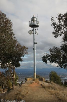 Aircraft beacon on Mount Ainslie