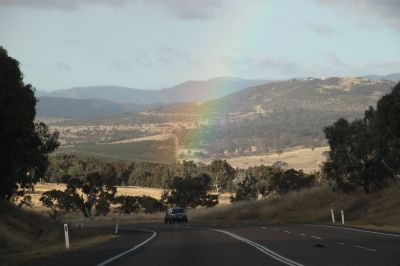 Mt Stromlo and rainbow