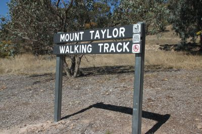 Mount Taylor reserve sign