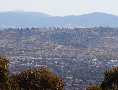 Mount Stromlo from Mount Taylor