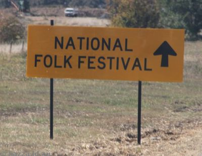 National Folk Festival sign
