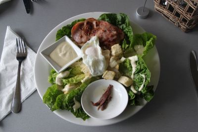 Caesar salad at Springfield Lake