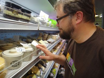 Stu inspecting cheese