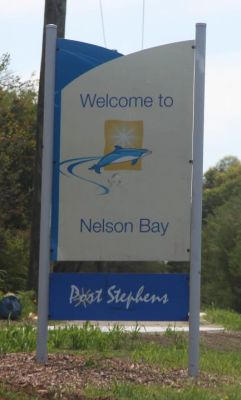 Nelson Bay sign