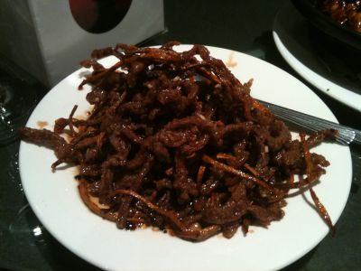Shredded beef Peking Style