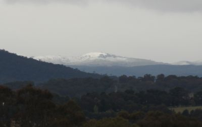 Snow in Canberra (sort of)