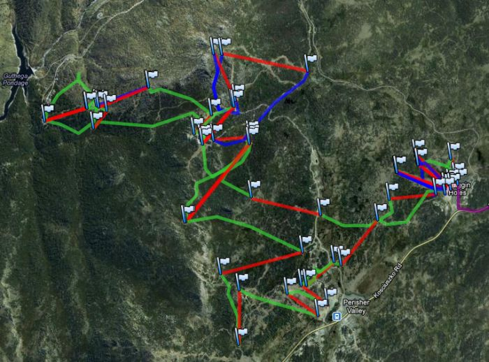 Skiing GPS track