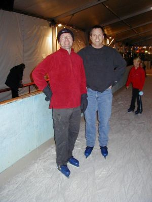 John and Jim ice skating