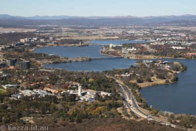 Lake Burley Griffin from Black Mountain Tower