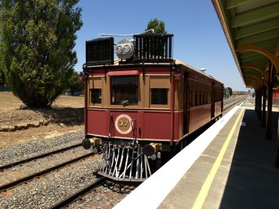 Railcar at Bungendore station