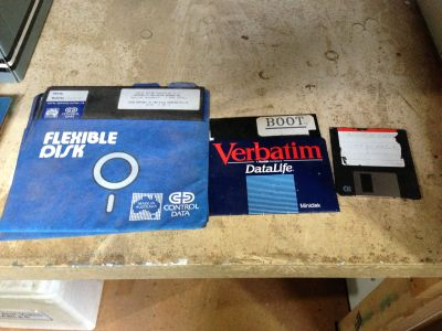 Three generations of floppies