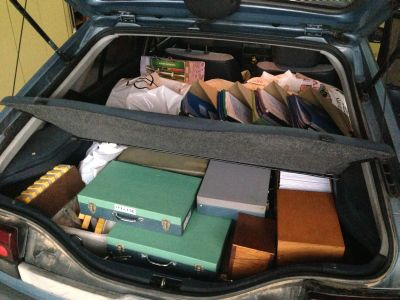 Packed to the gunnels