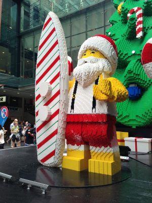 Lego surfing santa